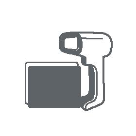 2D-Barcodescanner skizziert als Icon