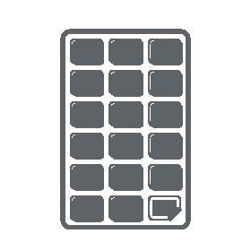 DIN-A4-Blatt mit Blattetiketten