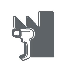 Industrie-Barcodescanner als Icon dargestellt